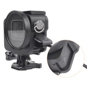 Image 3 - Aluminium Hero 5 6 7 obudowa aluminiowa obudowa ochronna obudowa metalowa rama filtr UV do akcesoriów GoPro Go Pro hero