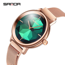 Sanda new rose gold Women Watches ladies quartz watch 2019 top brand luxury women girl clock reloj mujer