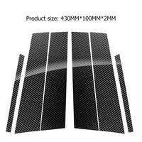 Carbon Fiber Car Window B Pillars Stickers Cover for E Class 2016 2018 LHD Car Auto Stickers