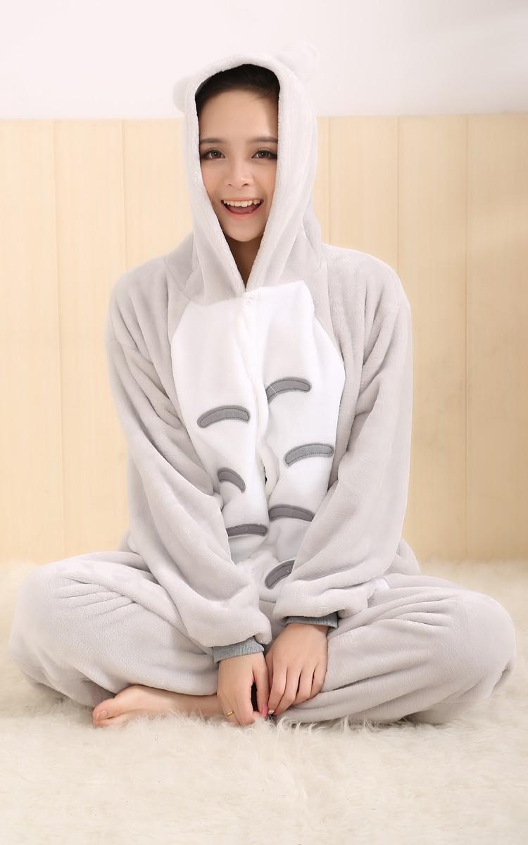 6eac219959 2018 Totoro pajamas women Onesise for adults Flannel Animal pajamas ...