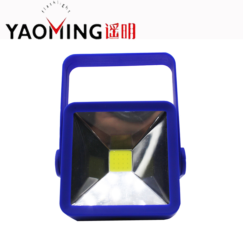 COB Working Lantern Led Flashlight Square Pocket Linternas Hand Lamp Torch Portable Light With Magnet By 4 x AAA
