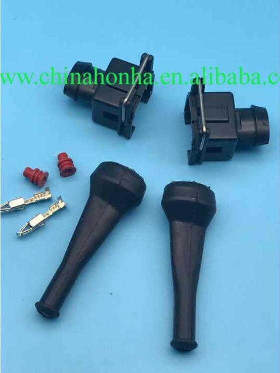 GREY Fuel injector sensor plug connector Bosch EV1 Amp Junior Power Timer 2pin