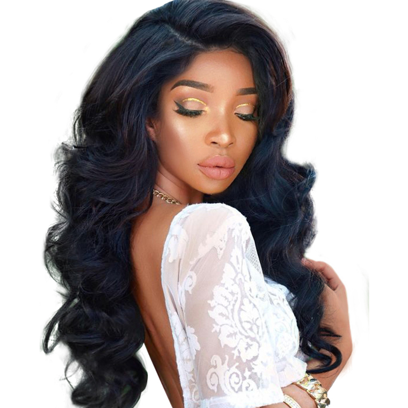 250 Density Pre Plucked Lace Front Human Hair Wigs With font b Baby b font Hair