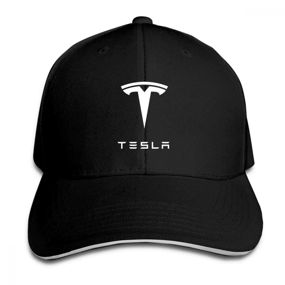 Mens Womens Tesla Print   Baseball     Cap   Adjustable Unisex Custom Hip Hop Snapback   Cap   Hats