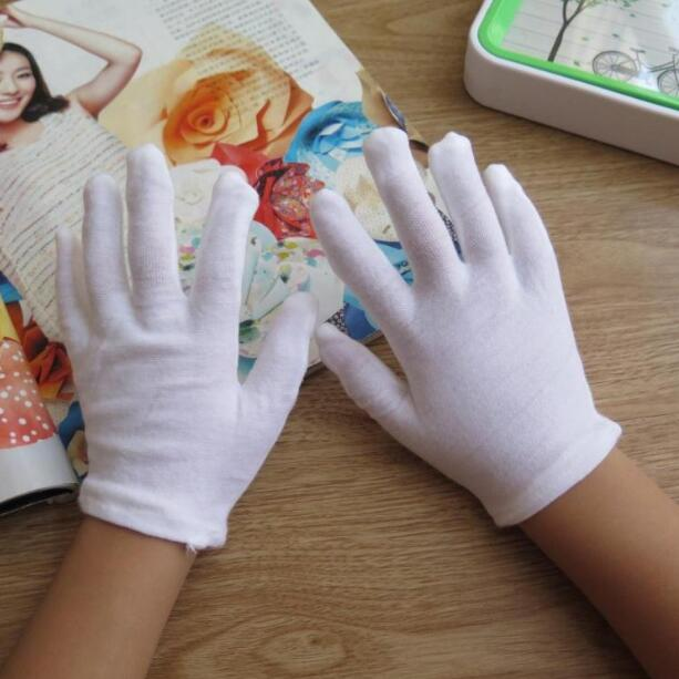 White Kids Costume Gloves Dress Cotton Gloves Wrist Formal Gloves for Boys Girls