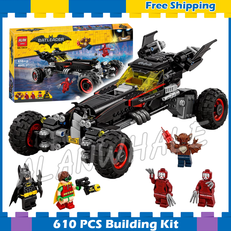 559pcs Super Heroes Batman Movie The Batmobile Road off 10634 Model Building Blocks Boys Assemble Gifts Set Compatible with Lego china brand bricks toy diy building blocks compatible with lego batman movie the batmobile 70905