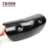 TKOSM Universal Motorcycle Exhaust Carbon Fiber Heat Shield Cover For GY6 Scooter Exhaust Heat Shield Cover