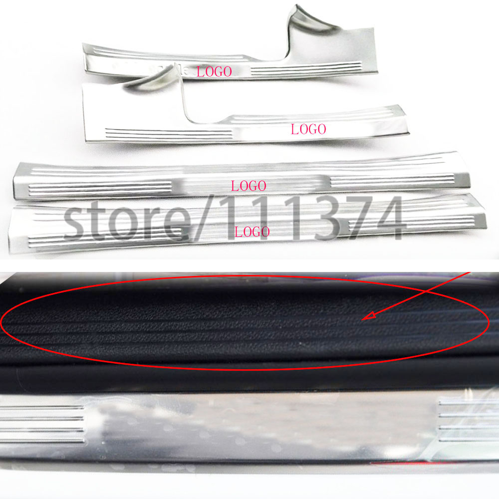 ФОТО Nulla Decorative sill strips decorative frame For Mercedes benz GLC class chrome Stick Car Styling LHD 4ocs/set stainless steel