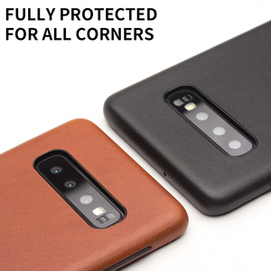 Image 4 - QIALINO moda prawdziwy skórzany tył pokrywa dla Samsung Galaxy S10 6.1 cali luksusowe ręcznie etui na telefony dla S10 Plus 6.4 cali