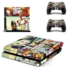 Grand Theft Auto V GTV 5 Decal PS4 Skin Sticker For Sony Playstation 4 Console +2Pcs Controllers 15 patterns