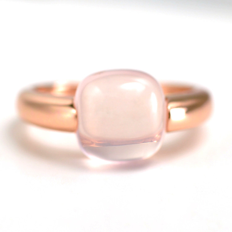 Natural Big Square Rose Quartz Ring 925 Sterling Silver Jewelry Wedding Band Engagement Rings For Women-에서반지부터 쥬얼리 및 액세서리 의  그룹 1
