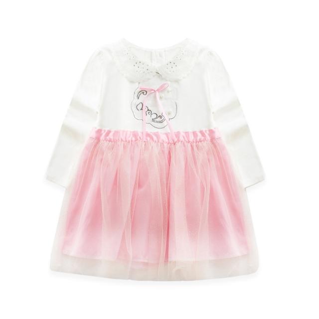 2016 Весной Новый Шаблон Весенняя Одежда детская Одежда Девочка Кукла Привести Сплит Девушка Широкая Юбка Мода