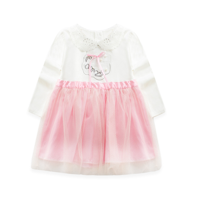 2016 Spring New Pattern Spring Clothes Children's Garment Girl Baby A Doll Lead Split Girl Full Skirt  Fashion