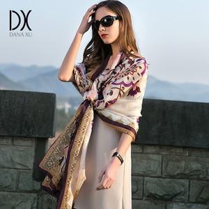 Image 2 - 2020 New Silk Luxury Brand Bandana Scarf Women Fashion Designer Shawls And Scarves Hijab Foulard Femme Pashmina