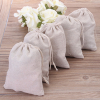100pcs/lot 8 * 10cm Jute Drawstring Gift Bags Sacks Party Favors Packaging Bag Wedding Candy Gift Bags party Supplies