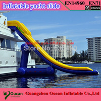 5.50m height inflatable water slide for yacht, inflatable yacht slide, inflatable water toys
