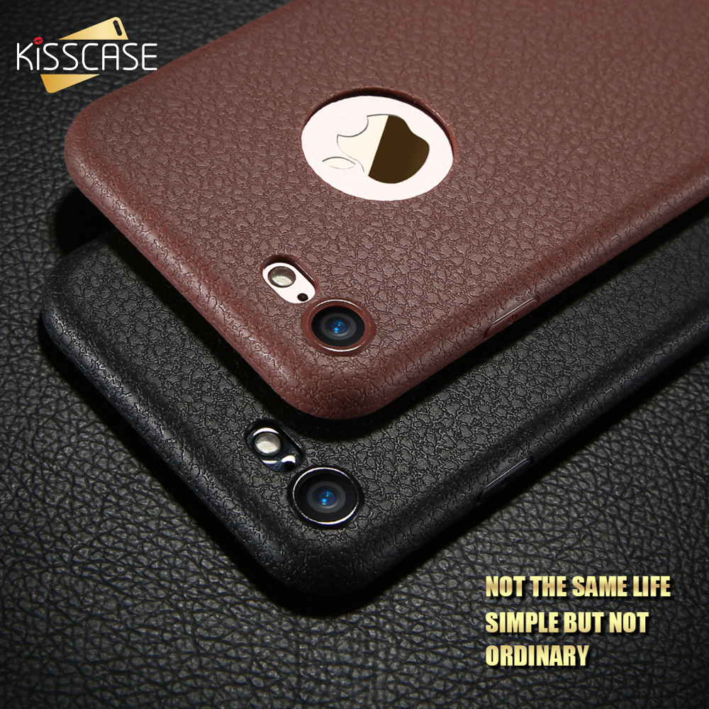 KISSCASE Super PU Leather Case For iPhone 8 8 plus XS Max Cover Business Soft Black Case For iPhone XS X XR iPhone 8 7 6 S Capa