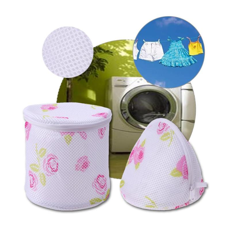 Foldable Zippered Mesh Laundry Wash Bags Delicates Lingerie Bra Socks Underwear Washing Machine Clothes Protection Net