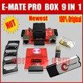 2016 Nuevo 100% Original E-MATE PRO CAJA de E-Socket 9 en 1 con bga169e bga162 bga 221 con máster erasmus mundus box para meizu desbloquear