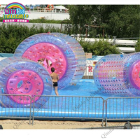 Giant Pool Floating Rolling Human Inside Hamster Inflatable Water Roller Walking Ball Bubble Zorb Ball