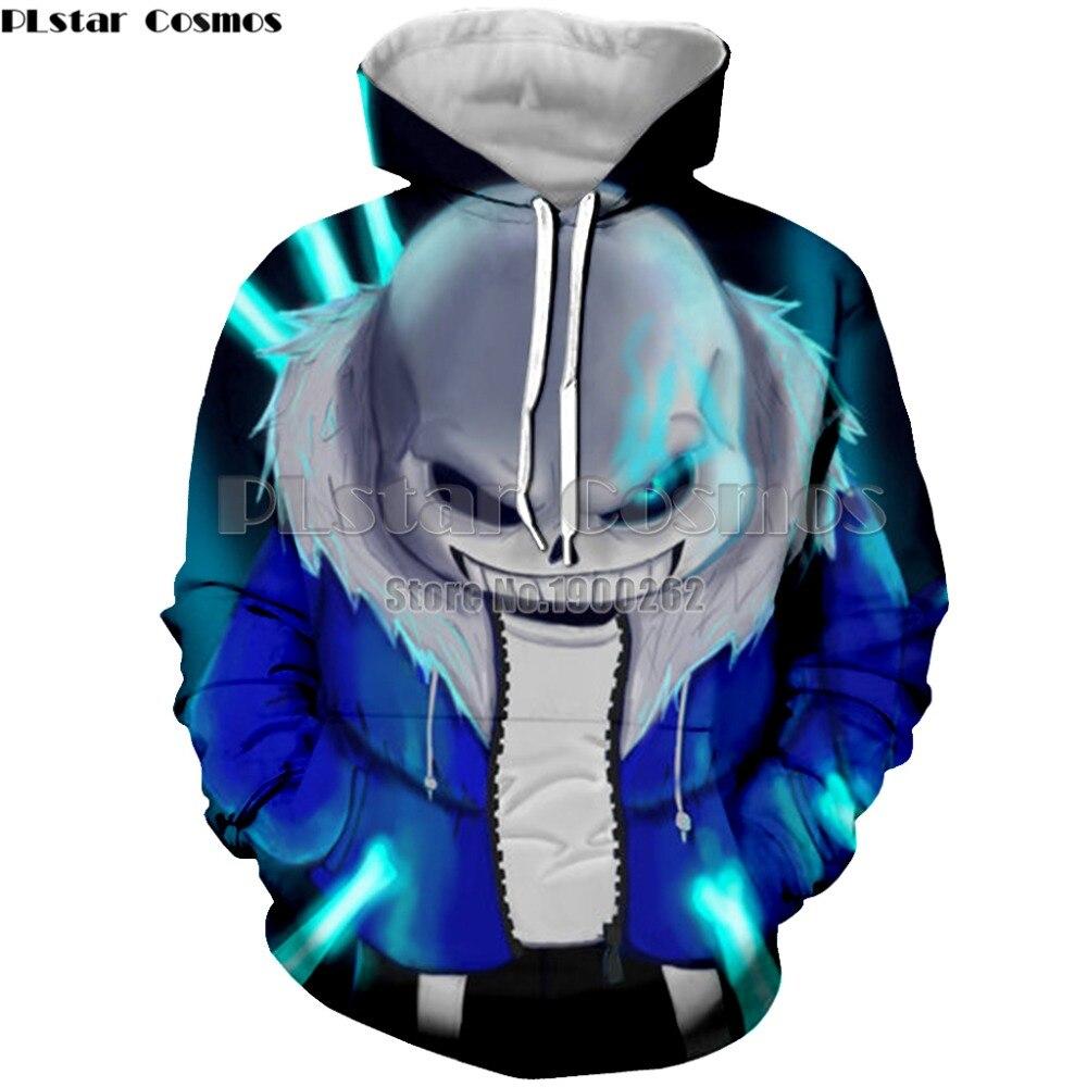 PLstar Cosmos gioco undertale sans 3D con cappuccio pullover Con Cappuccio da Uomo/donne 3d Stampa Felpa