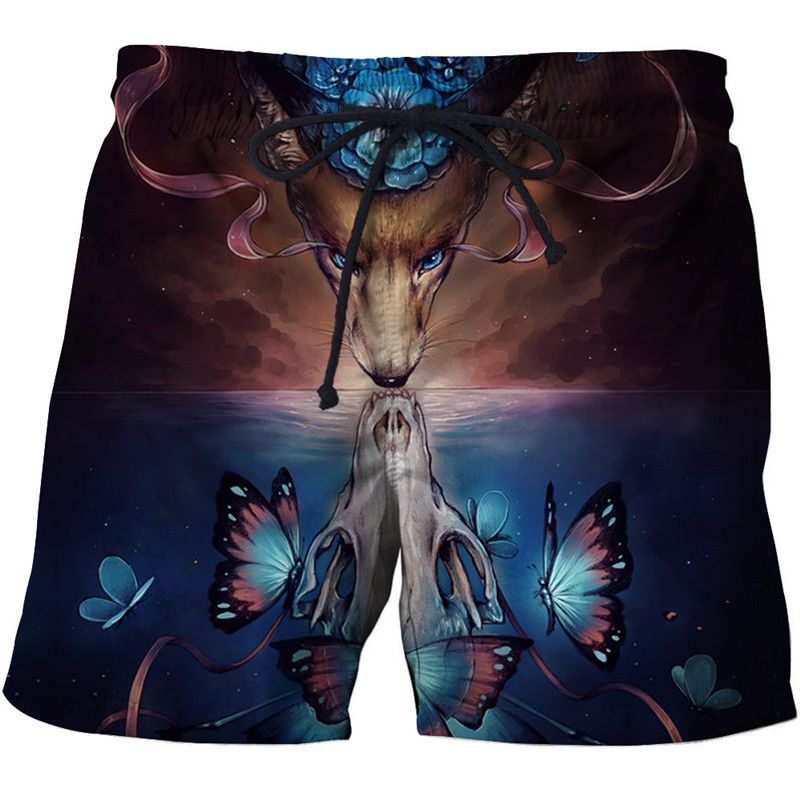 2019 deer pattern beach <font><b>shorts</b></font> men's pants funny <font><b>board</b></font> <font><b>shorts</b></font> plaid quick dry <font><b>shorts</b></font> cartoon swimsuit fashion <font><b>6XL</b></font> drop boat image