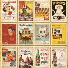 32 unids/lote clásico póster famoso estilo Vintage tarjeta de memoria/tarjetas de felicitación/tarjetas de regalo/tarjetas postales de Navidad H002