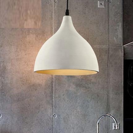 RH Industrial Loft Style Cement Droplight Vintage LED Pendant Light Fixtures For Dining Room Hanging Lamp Indoor Lighting umbra набор из 10 скрепок specs разноцветный