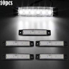 10 Pcs 12 V SMD 6 LED Indicatore Laterale, Luce di Posizione Posteriore del Rimorchio del Camion Camion Car Styling