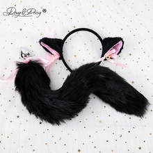 DAVYDAISY Cute Cat Ears Bell Headbands Faux Fox Tail Butt Anal Plug Cosplay Adult Sex Accessories Set Sexy Toys for Woman AC119(China)