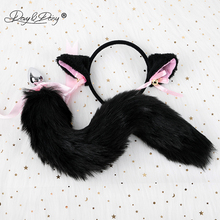 DAVYDAISY Cute Cat Ears Bell Headbands Faux Fox Tail Butt Anal Plug Cosplay Adult Sex Accessories Set Sexy Toys for Woman AC119