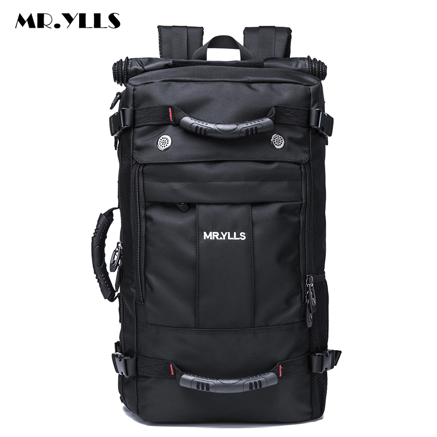 MR.YLLS Men's Travel Multiple Uses Backpack For Man Waterproof Oxford Bag Backpacks Multifunctional Men 15 17 Inch Laptop Bags 14 15 15 6 inch flax linen laptop notebook backpack bags case school backpack for travel shopping climbing men women