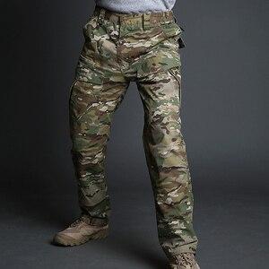 Image 2 - MEGE 2018City Tactical Cargo Pants Men Combat SWAT Army Military Pants Cotton Multi pocket Stretch Flexible Man Casual Trousers