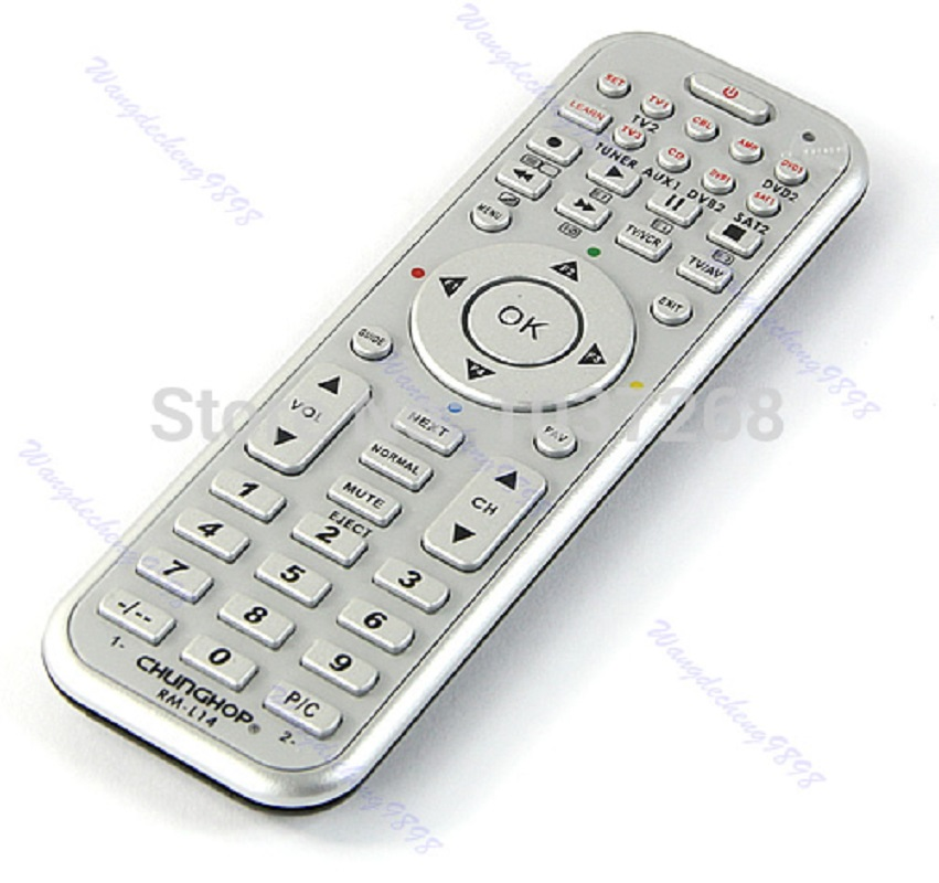 OOTDTY 14in1 Universal Smart Remote Control With Learn Function For TV CBL DVD SAT DVB