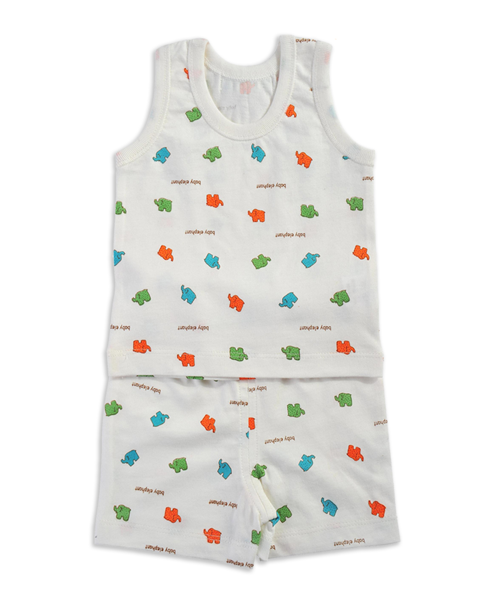 LeJin Baby Clothing Set Newborn Baby Underwear Baby Vest Boys Clothes Set Infant Clothes for Summer 100% Cotton Knitted