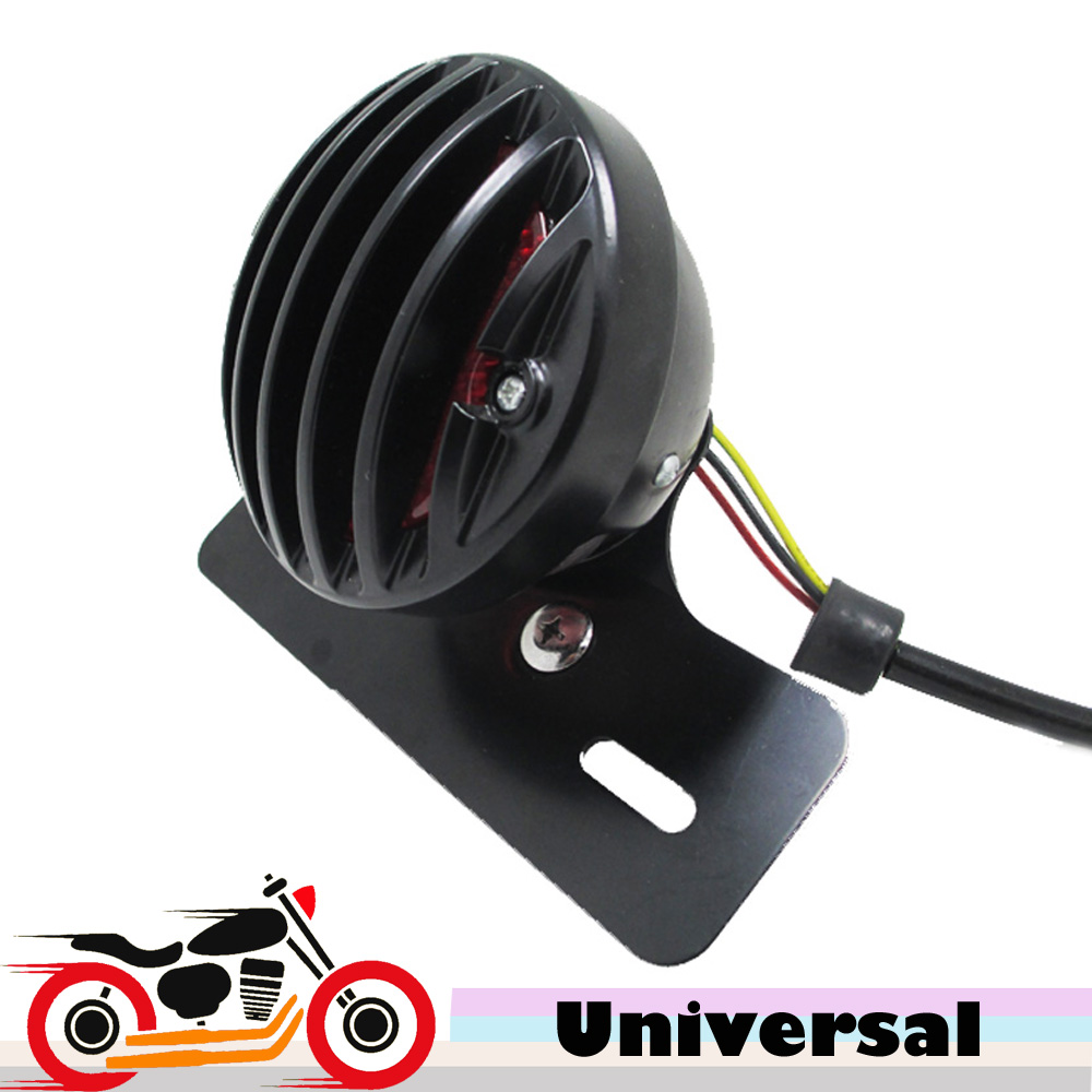 Black Motorcycle Tail Brake Running Light for Honda Shadow Sabre VF700 VT750 VT1100 Yamaha V-Star 650 950 1300 Classic Custom