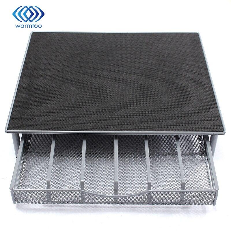 black and silver Coffee capsule holder / coffee capsules drawer box storage machine base