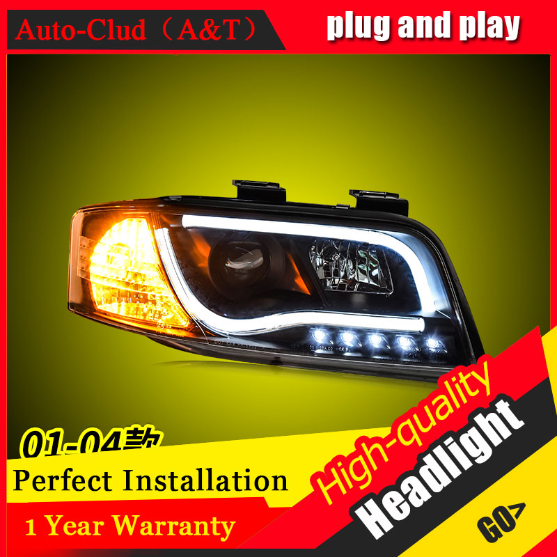 Auto Clud Car Styling For Audi A6 headlights 2001 2004 For A6 head lamp led DRL front Bi Xenon Lens Double Beam HID KIT