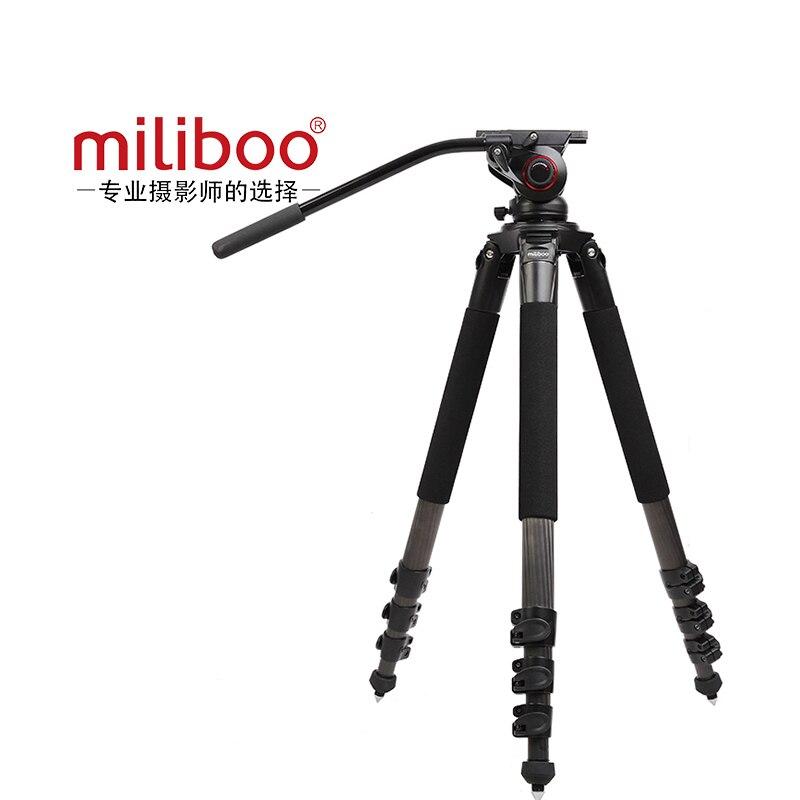 Miliboo Torre MTT702B cámara profesional fibra de carbono trípode grande con cúpula hidráulica paquete cd50
