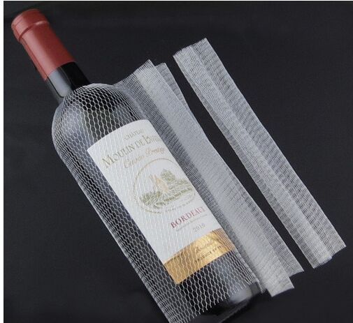 200pcs Red Wine Bottle Nets Cover Bar Homebrew Kitchen Accessories Drink Packaging Decoration Diy Barware