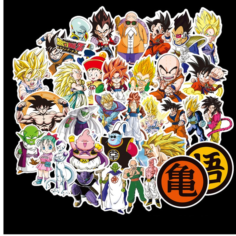 25 100pcs dragon ball Z stickers does not repeat the individuality sheet car motorcycle draw bar box cartoon doodle sticker toy(China)