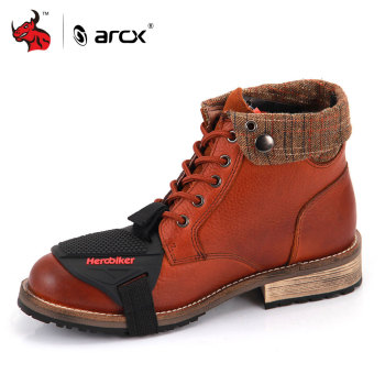 ARCX Motorcycle Boots Lapel Men Leisure Shoes Road Cycling Bike Scooter Motorbike Casual Boots Shoes Leather Moto Boots