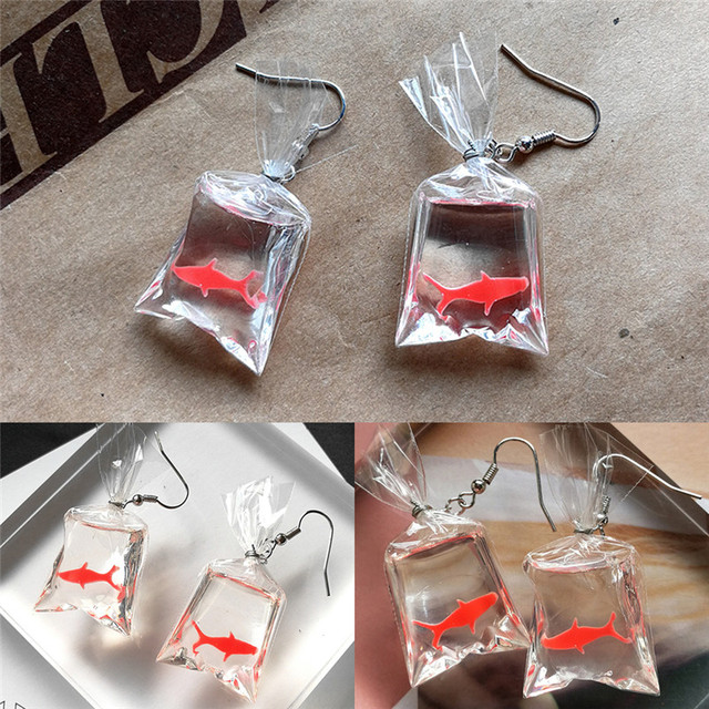 Women's Creative Style Koi Fish Drop Earrings 5