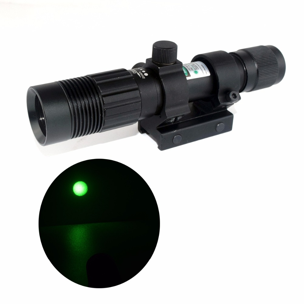 WIPSON Hunting Adjustable Green laser pointer Sight Designator/Illuminator/Flashlight Picatinny W/Weaver Mount Free Shipping xl nxf rg 5mw green laser gun sight w weaver mount led flashlight black 3 x cr 1 3n