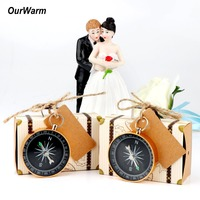 Теплые вечерние сувениры тематика путешествий свадебные принадлежности Компас + крафт-бумага подарок для гостей сувенир на свадьбу и день ...
