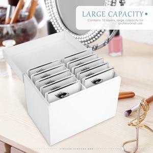 Image 4 - つけまつげ収納ボックスまつげエクステンション 10 層まつげ糊延長オーガナイザーのマニキュアまつげパレット空のボックス