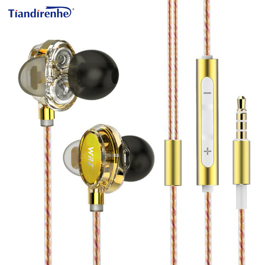 TD20 4 Cores DJ Headphone DD Dual Dynamic 3.5mm HIFI DIY Earphone Stereo Bass Sport Headset Earbuds with mic for iPhone xiaomi rock y10 stereo headphone earphone microphone stereo bass wired headset for music computer game with mic