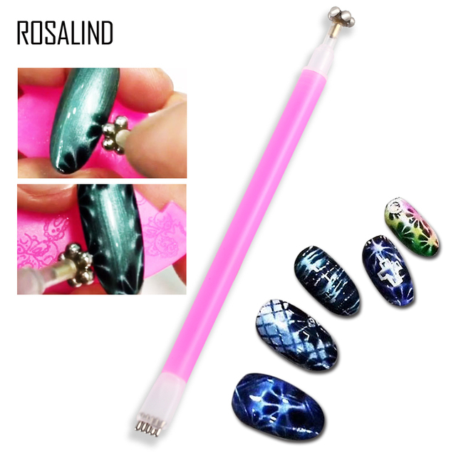 ROSALIND Flower Cat Eye Magnet Stick for Nail Art Painting Tips ...