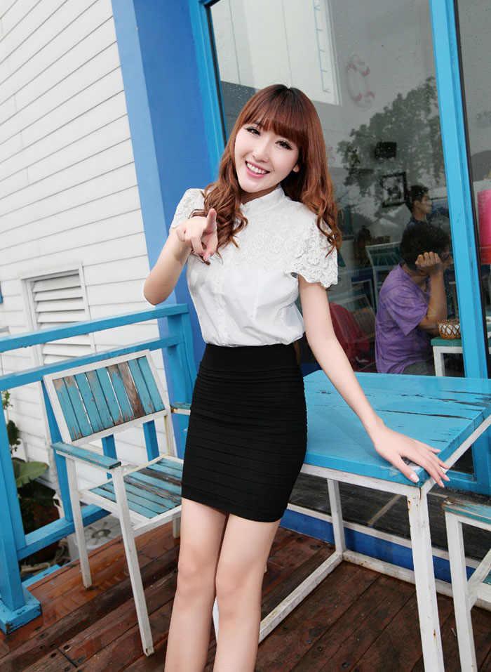Amerikanischen Frau Sexy Rock 1PC Mode Der Frauen Elastische Hohe Taille Paket Hüfte Kurzen Rock Freies Verschiffen # G