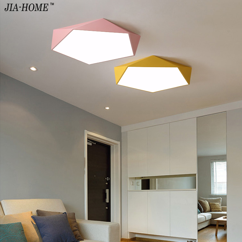 Ceiling Lights Macaron color Nordic personality Indoor Lighting Ceiling Lamp Fixture For Living Room Bedroom Lamparas De Techo